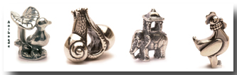Tiere Silber Beads
