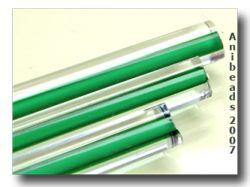 Moretti 228 klar/Grün weißen Kern 5-6mm 33cm