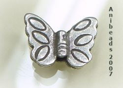 Hill Tribe Silver Butterfly Beads 950 Sterling Silver 15mm