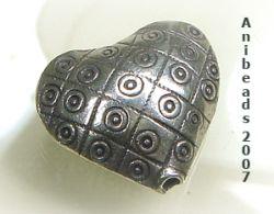 Herz 1  ca.22mm  Hill Tribe 950 Sterling Silber
