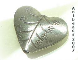 Herz 2  ca.22mm  Hill Tribe 950 Sterling Silber
