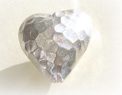 Herz mit Hammerschlag Design ca. 20mm  Hill Tribe 950 Sterling S
