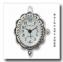 Uhrenrohling /  Uhrenmodul Oval versilbert URH_01