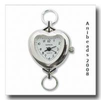 Uhrenrohling /  Uhrenmodul Herz versilbert URH_03