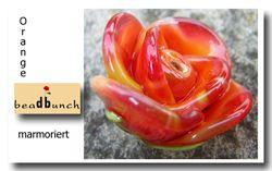 Lauscha Orange marmoriert 20cm