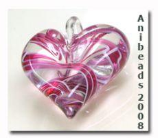 Lauscha Glasstab Pink tin ähnlich Filligranas