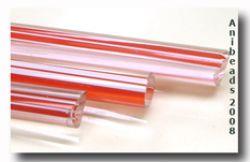 transparent -  mit rote weiss rot Streifen Durchzogen 12.2008