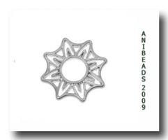 Scheibe Sternförmig flach versilbert