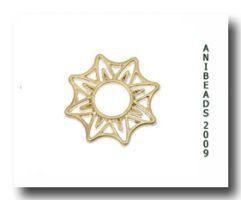 Scheibe Sternförmig flach vergoldet