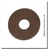 Aufsatz Scheibe Braun aus Holz rund 25mm