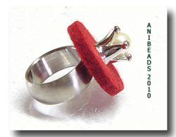 Filzscheibe  rund -  Farbe rot