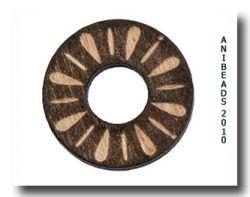 Holzscheibe gelasert Ornam., braun, rund 20mm