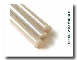 Lauscha Glasstäbe Perlbeige 33cm ca 8-10mm