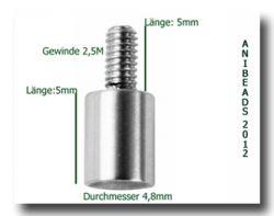 Wechselring Adapter für alle Wechsel-Ring Systeme,Edelstahl M2,5