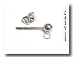 5 Paar Ohrstecker mit Ring/ 5 pairs earstuds with loop