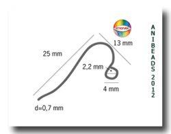 10 Paar Ohrhaken aus Chirurgenstahl/ 10 pairs surgical steel ear