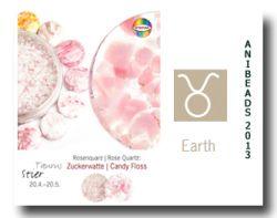 Vetromagic Rosenquarz Stier Zuckerwatte - Candy Floss 15gr.