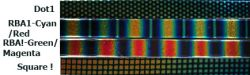 Dichro-Glasstreifen Patterns Colors verschied. Farben 15cm o. 30