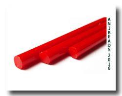Lauscha rot opak u. Anlauf  ab 33cm 6-8mm