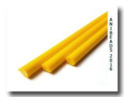 Lauscha gelb dunkel opak u. Anlauf ab 33cm 6-8mm