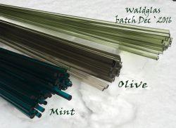 Lauscha Glasstäbe Mint transparent 6-8mm ab 33cm