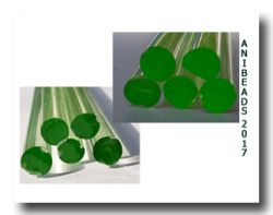 Lauscha Sonderfarbe Neon Grün 7-9mm 33cm
