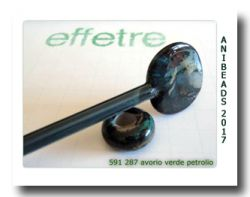 Ivory/Green - AVORIO VERDE PETROLIO  33cm 5 bis 6mm
