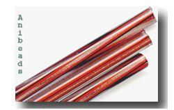 transparent  mit schwarz rote Streifen & Aventurin durchzogen