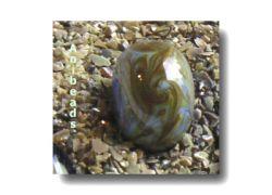 Farbglas Granulat:  Iris Orange /