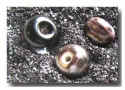 Farbglas Granulat:  Aubergine