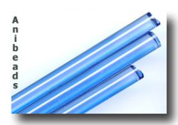 Moretti Glasstab: Blau, medium / Bluino md.