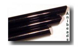 Lauscha Glasstäbe schwarz opak 33cm