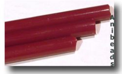 Lauscha Stäbe Blutrot Opak