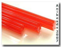 Gerippte Glasstange rot 33cm