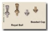 Öse zum Einkleben, Glue In, Royal Bail,  versilbert TierraCast