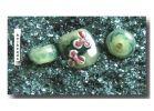 Farbglas Granulat: Smaragdgrün