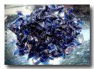 Aventurin Blau Krösel in Reagenzglas